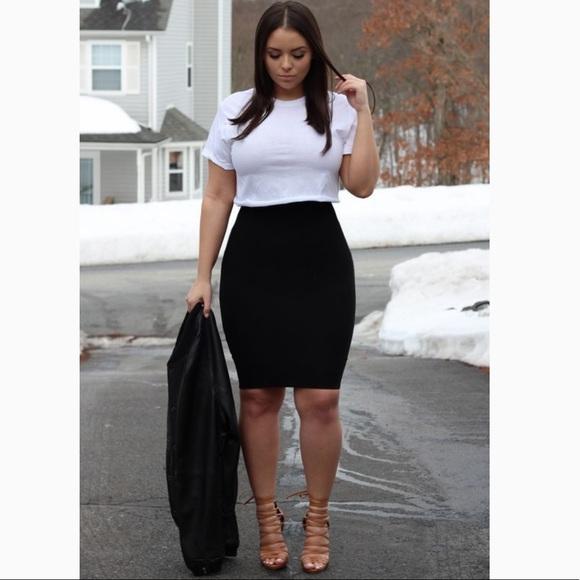 82eee2b6186 Jaclyn Smith Dresses   Skirts - PLUS SIZE 3X BLACK PENCIL MINI SKIRT SPRING  SUMMER